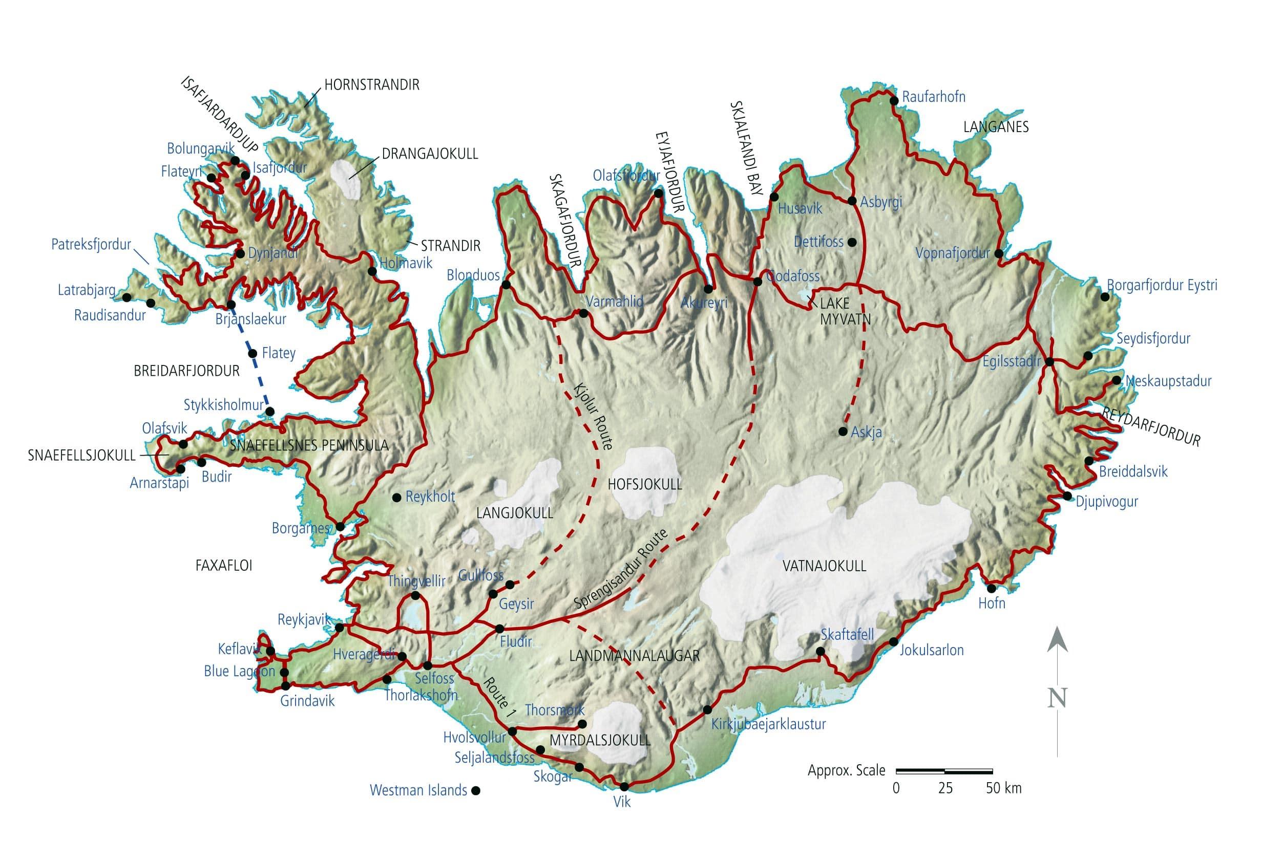 Island Karte Pdf