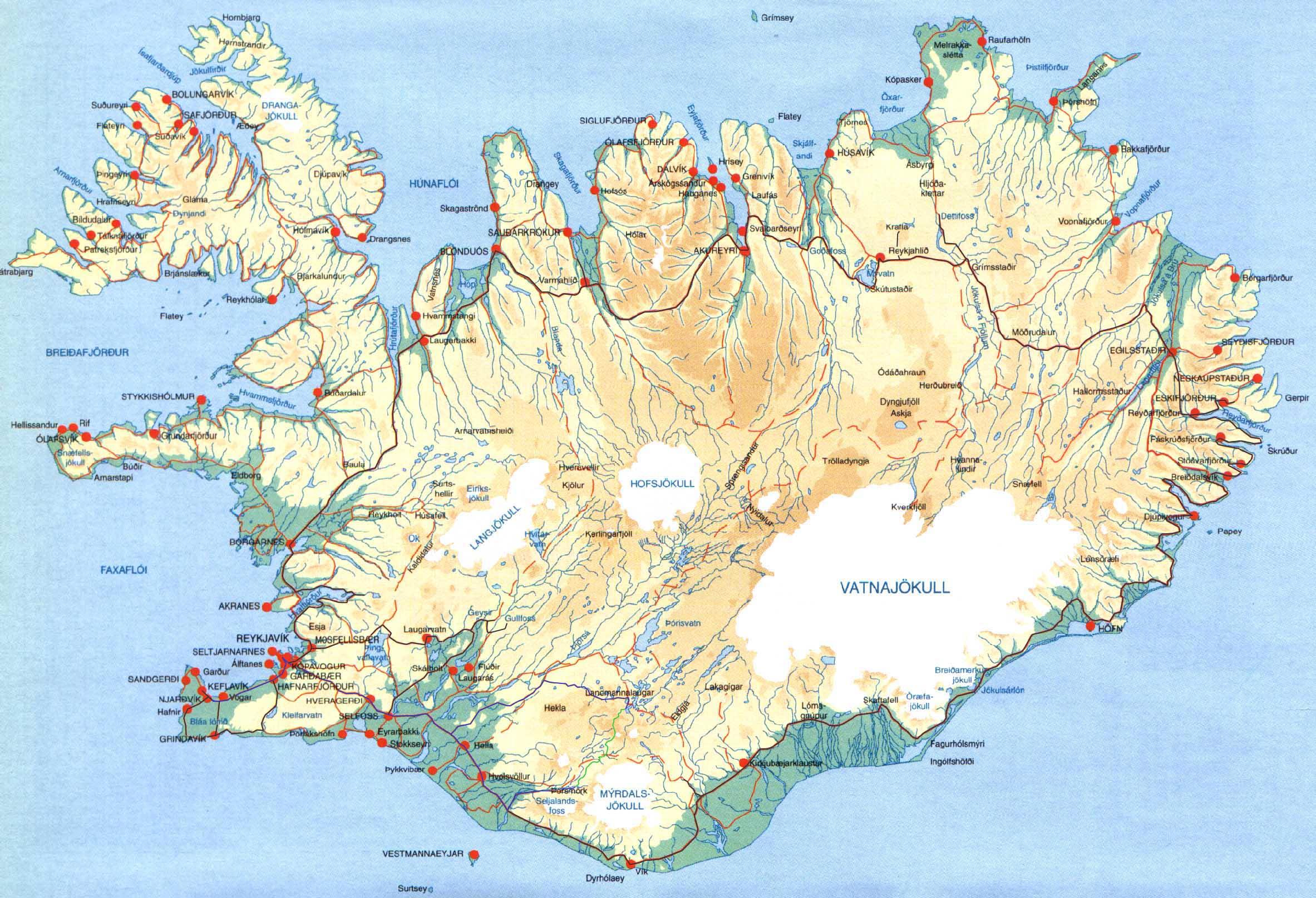 Carte De L Islande Dans L Europe