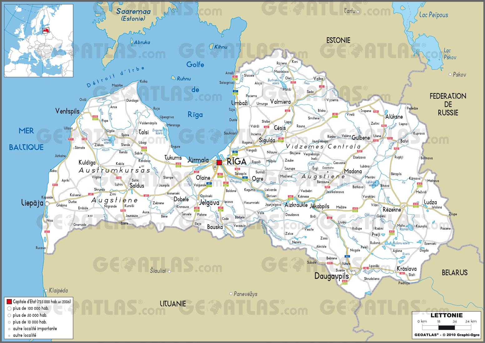 Cartograf.fr : La Lettonie : page 3