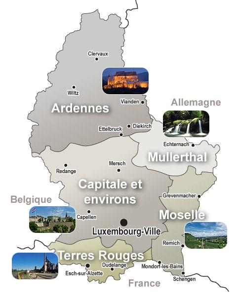 Luxembourg Carte Touristique