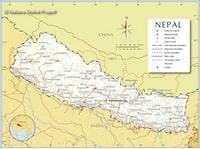 Carte du Népal avec les villes, les routes et les aéroports