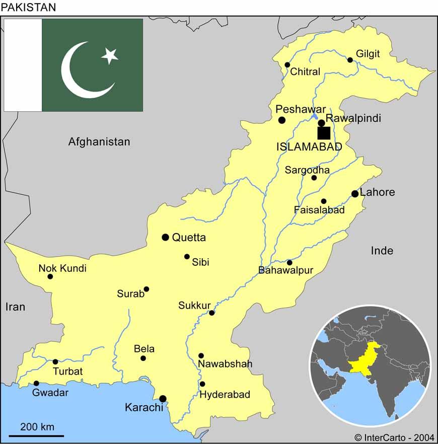 karachi carte du monde - Image