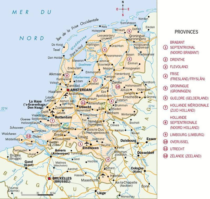 Carte Allemagne Et Hollande.Cartograf Fr Les Pays Bas