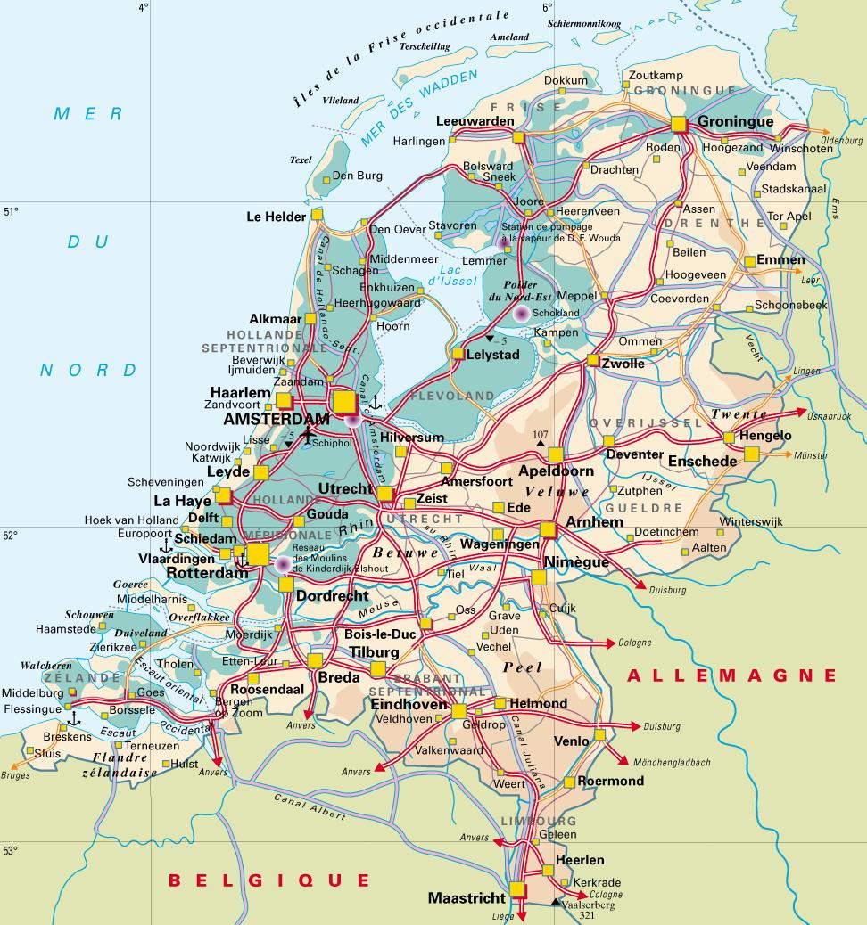 carte de hollande - Image