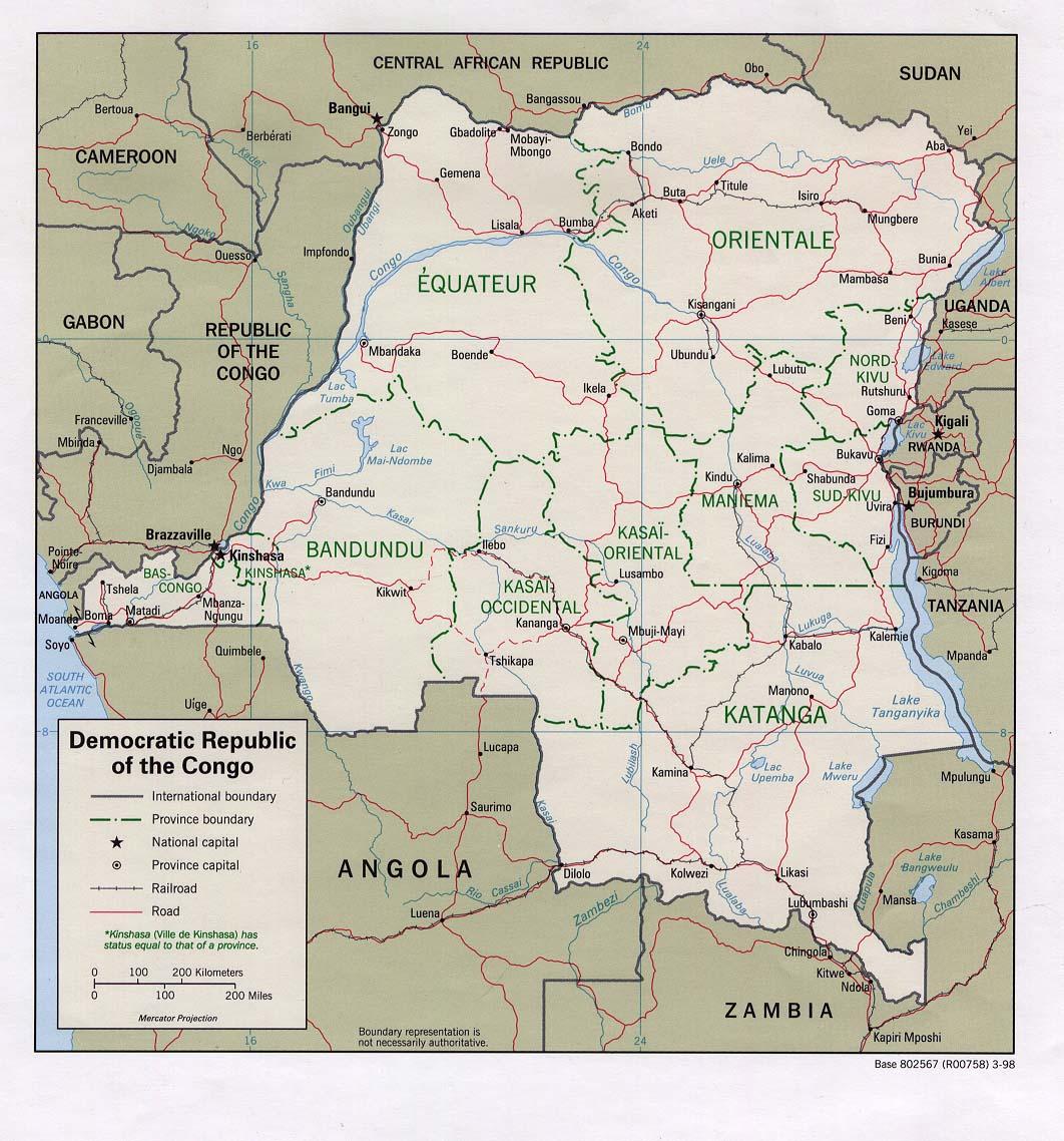 Cartograf.fr : Les pays : La République Démocratique du Congo