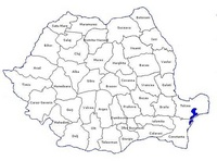 Carte politique de la Roumanie