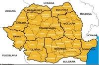 Carte de la Roumanie politique avec les régions