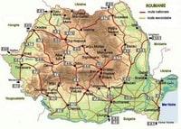 Carte routière de la Roumanie avec le nom des routes nationales et secondaires