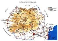 Carte de la Roumanie carte routière