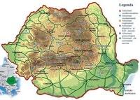 Carte de la Roumanie avec les sites de thalasso