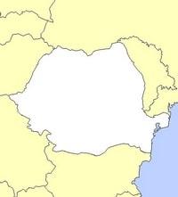 Carte de la Roumanie vierge