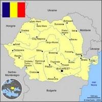 Carte simple de la Roumanie avec les villes