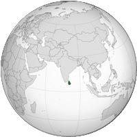 Carte du Sri Lanka avec sa localisation dans le monde