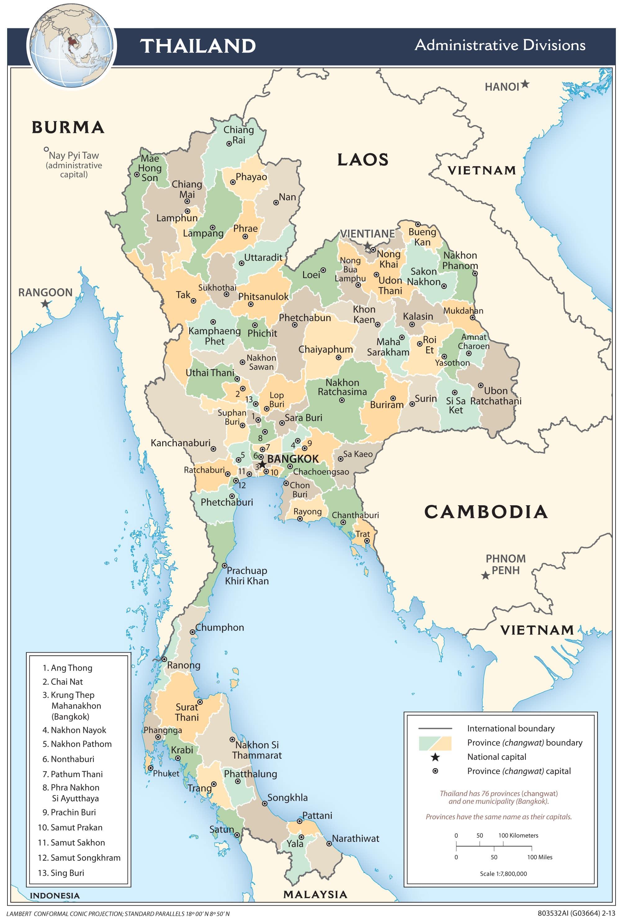 Carte Complete Thailande.Cartograf Fr Les Pays La Thailande
