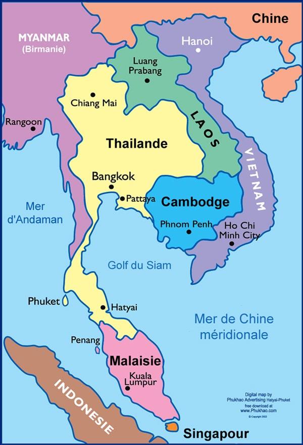 Thailande Et Indonesie Carte.Cartograf Fr Les Pays La Thailande Page 2