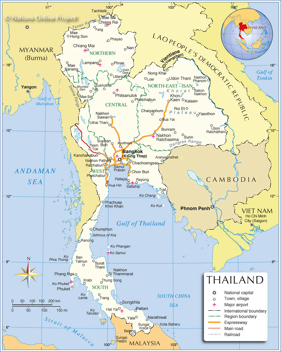 Carte Thailande Regions.Cartograf Fr Les Pays La Thailande Page 2