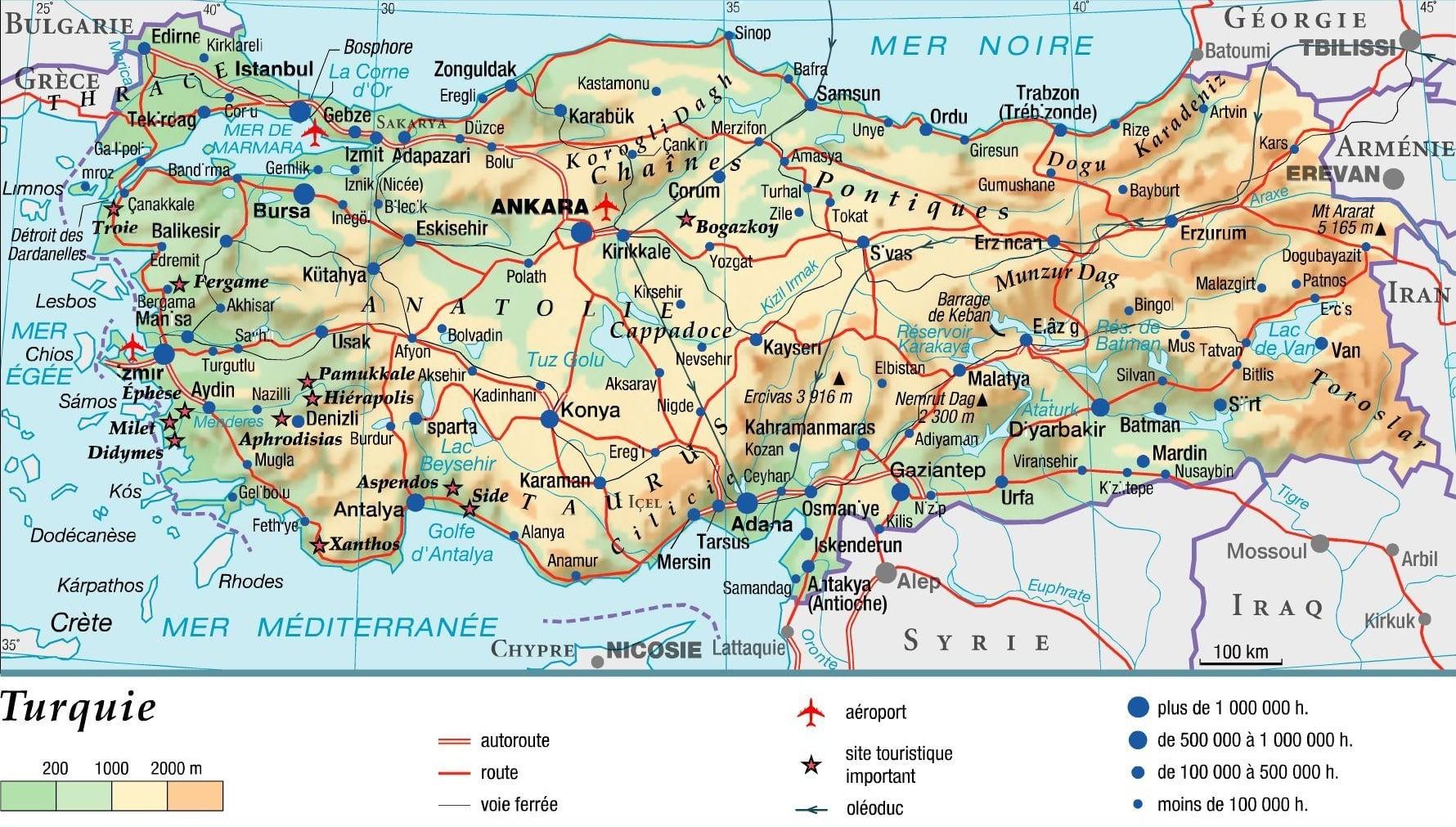 carte-routier-turquie