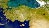 Carte de la Turquie photo satellite