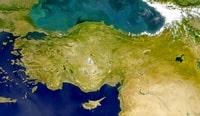 Carte de la Turquie photo satellite