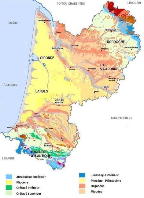 Cartograf.fr : Les régions de France : L'Aquitaine : page 2