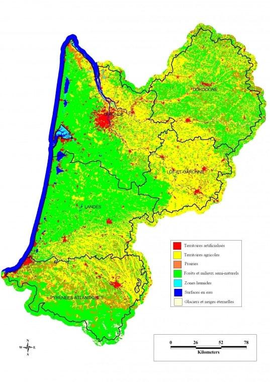 Cartograf.fr : Les régions de France : L'Aquitaine