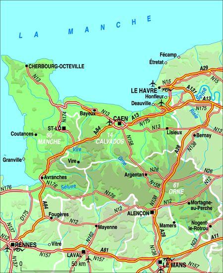 Les r gions de france la basse normandie for Haute ou basse normandie