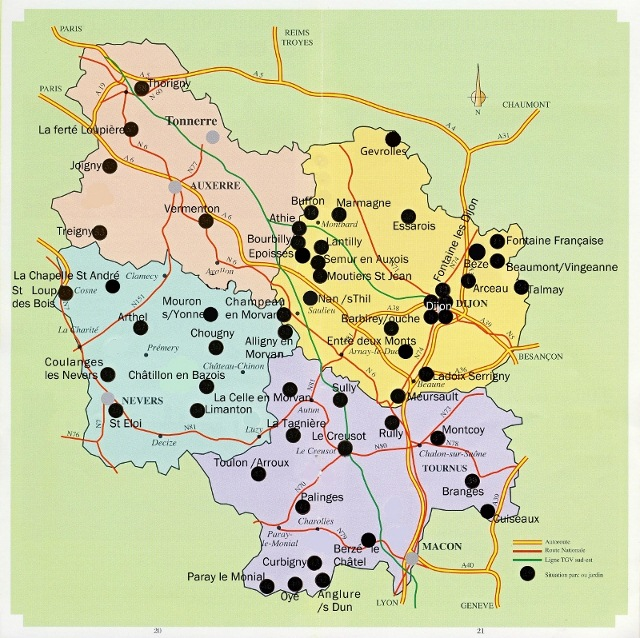 Carte D Ela Bourgogne.Cartograf Fr Les Regions De France La Bourgogne