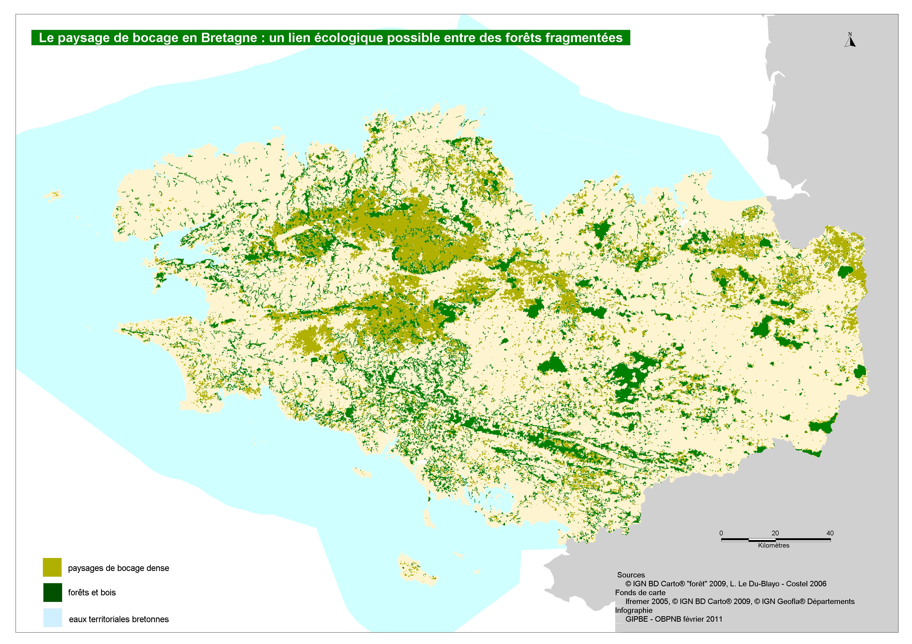 Bretagne Villes Carte