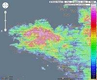 Carte de la Bretagne avec l'altitude en mètre