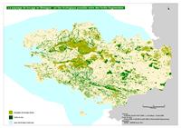 Carte de la Bretagne avec les forêts et les bocages