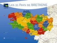 Carte de la Bretagne avec les pays de Bretagne