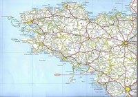 Carte routière de la Bretagne