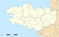 Carte de la Bretagne vierge