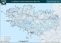 Carte hydrographique de la Bretagne