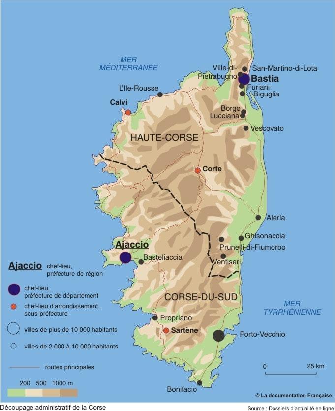 Cartograf.fr : Régions France : La Corse : page 2