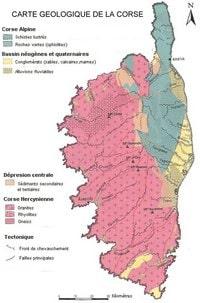 Carte géologique de la Corse