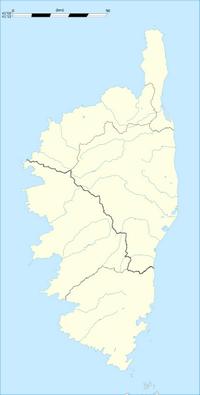 Carte hydrographique de la Corse vierge