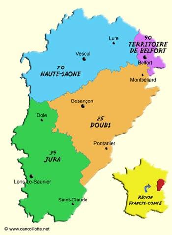 carte de franche comté • Voyages - Cartes