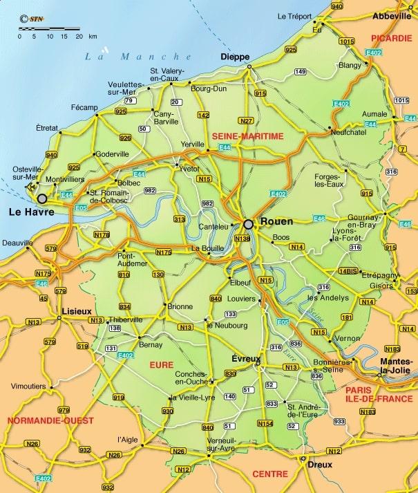 Cartograf.fr : Les régions de France : La Haute Normandie : page 2