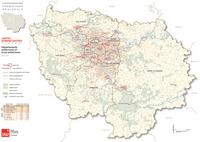 Carte administrative de l'Île-de-France avec les préfectures