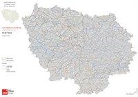 Carte de l'Île-de-France avec les bassins versants et les cours d'eau