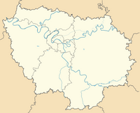 Carte de l'Île-de-France blanche à compléter