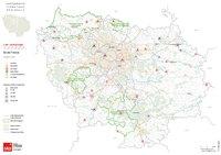 Carte de l'Île-de-France avec les campings
