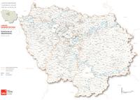 Carte de l'Île-de-France avec les communes détaillées