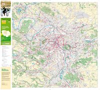 Carte de l'Île-de-France des pistes cyclables et des locations de vélo