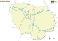 Carte de l'Île-de-France vierge