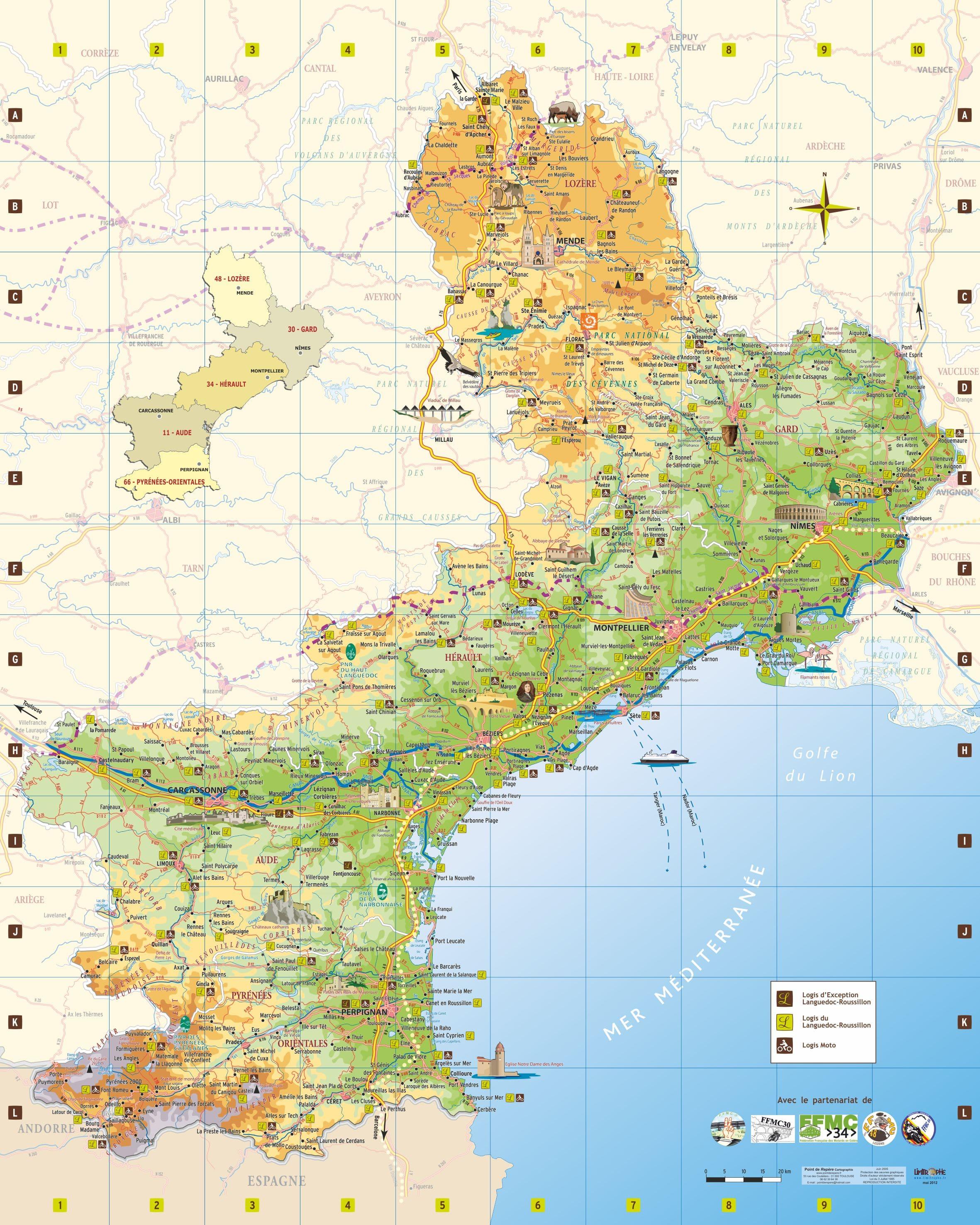 Cartograf.fr : Régions de France : Le Languedoc Roussillon : page 2