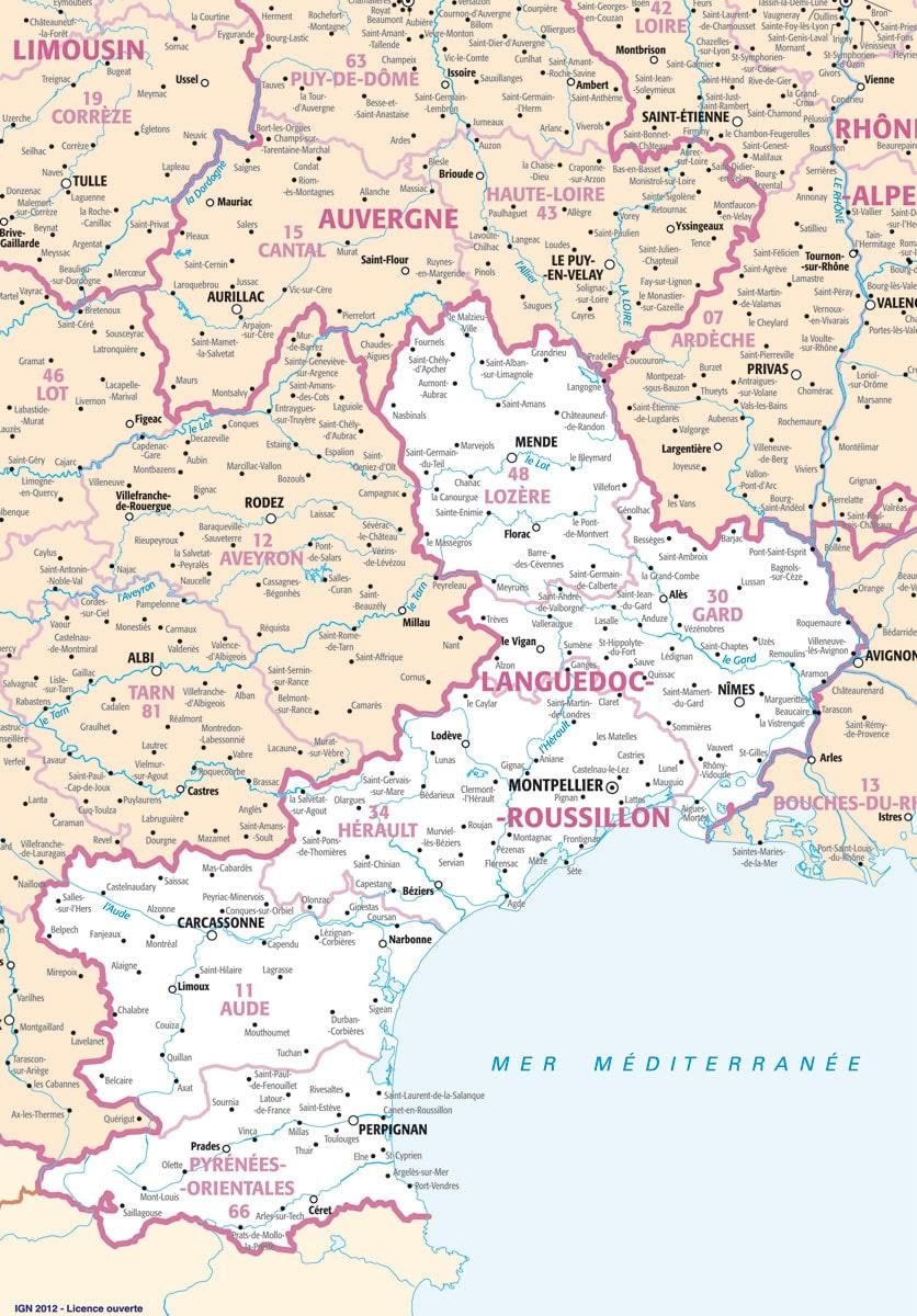 carte-languedoc-roussillon-villes