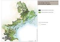 Carte du Languedoc-Roussillon avec les forêts de résineux et de feuillus
