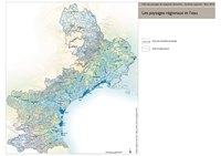 Carte du Languedoc-Roussillon avec l'hydrographie